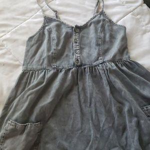 TOPSHOP LIGHT DEMIN BABY DOLL DRESS